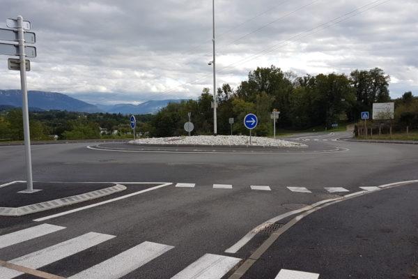 Image du rond-point de Vallières-sur-Fier
